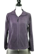 Columbia Womens Medium Purple Fleece Full Zip Collar Jacket Coat