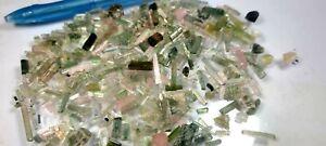 250 Carat Tourmaline Mix Colour Crystals Fantastic Jewllery Lot From Shigar
