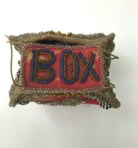 Antique Native Am. Beaded Whimsey Purse or BOX