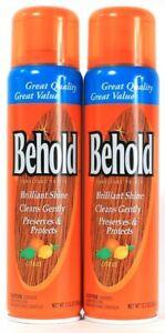 2 Behold 12.5 Oz Shine & Protect Citrus Enhances Natural Beauty Furniture Polish