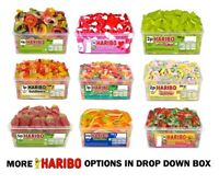 HARIBO SWEETS 1 TUB RETRO  FAVOURS TREATS PARTY CANDY  FOR ALL OCCASIONS