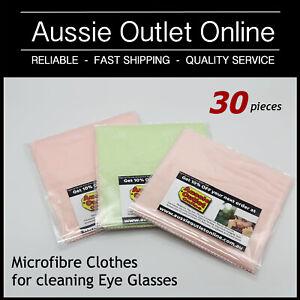 30 pcs Microfibre Clothes Cleaner for Eye Glasses Sunglasses  - Aussie Outlet Z