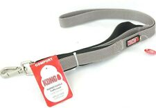 Kong Padded Handle Traffic Leash Grey 4 ft L X 1.0 In W  (1.2 M x 2.5 cm)