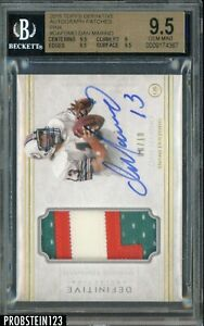 2015 Topps Definitive Pink Dan Marino HOF 3-Color Patch AUTO 8/10 BGS 9.5
