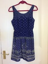 Blue H&M dress SIZE 12 new with tags