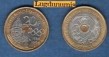 V République 1959 - / 20 Francs Pierre de Coubertin 1994 TB TTB Commémorative