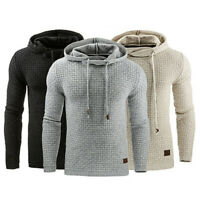 Men's Slim Pullover Hoodie Warm Winter Hooded Sweatshirt Coat Sweater Outwear