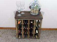 Rustic Handmade 100 Year Old BARN WOOD WINE RACK Holds 16 Wine Bottles 750 ml