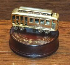 "Cable Car Turn Table Wind Up Music Box ""I Left My Heart in San Francisco"""