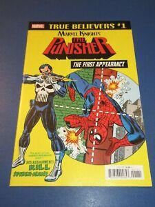 Amazing Spider-man #129 True Believers Reprint 1st Punisher NM Gem Wow