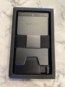 Ekster Black Space Grade Aluminum Cardholder Expandable RFID Blocking Wallet~New