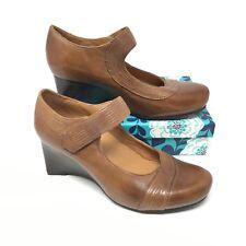 Women's NEW Earthies Savona Pump Heels Shoe Size 7.5B Mary Jane Brown Leather F1