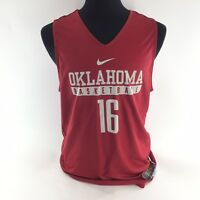 NIKE TEAM Oklahoma Sooners Red Reversible BASKETBALL JERSEY Sz Large NEW T4B