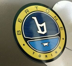Bertone x1/9 wheel center set of 4 ..larger of 2 sizes available .. sign badge
