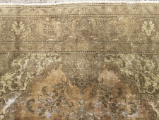 New listing 7x10 Antique Persian Rug Muted Hand Knotted Iran Made beige rugs brown 6x9 8x10