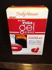 SALLY HANSEN* Salon Insta Gel RED MY LIPS Nail Polish Strips Starter Kit #40296