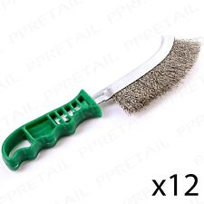 3 x Heavy Duty SPID Wire Hand Brush Stainless Steel Bristles Rust Paint Removal