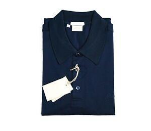 NEW  BRIONI Polo LOGO Short Sleeve Cotton Size L Us Eu 52 (ZIP17)