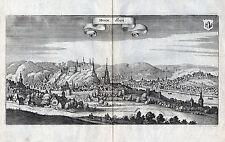 HUY (Belgien) Huum Hoy - Ansicht der Stadt Kupferstich von Merian 1647 Original