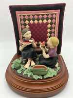 The Amish Heritage Collection Best Friends Limited Ed. Musical Figurine 1995 .