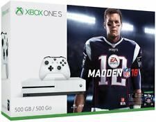 New Xbox One S 500GB Console – Madden NFL 18 Bundle w/ 4K Tom Brady Cover Sealed