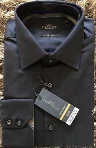 "NEXT Signature Men's Formal Slim Fit Shirt - Dark Navy. Size 16"" Collar. BNWT"