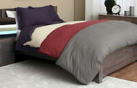 Olivia Branch 1800 Thread Count 3 Piece Duvet Cover Set - All Sizes 12 Colors