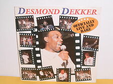 DOPPEL - LP - DESMOND DEKKER - OFFICIALLY LIVE AND RARE
