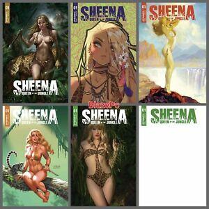 Sheena Queen of The Jungle #1 A B C D E F Variant Set Options Besch Presale 11/3