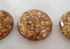 Vintage Set Big Lucite Buttons Shells Apple Juice Confetti Sparkle