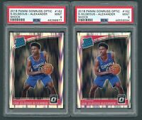 2x Shai Gilgeous Alexander Rookie Optic Shock Rated Rookie PSA 9