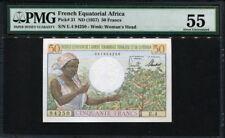 French Equatorial Africa ( Cameroun ) 1957, 50 Francs, P31, PMG 55 UNC