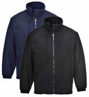 Portwest Buildtex Laminated Arctic Fleece Jacket F330 Navy / Black Showerproof