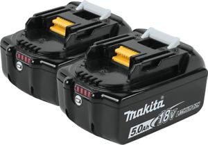 Makita BL1850B-2 18V LXT® Lithium‑Ion 5.0Ah Battery, 2/pk