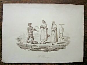 1806 Fishmonger James Godby Edward Orme Italy Italian Scenery Old Antique Print
