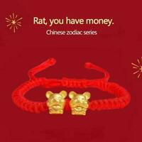 Alloy Metal Twin Happy Lucky Chinese Zodiac Tiger Bangle Cuff