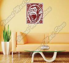 "Ape Monkey Gorilla Scream Face Gift Wall Sticker Room Interior Decor 20""X25"""