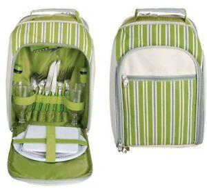 Picknick Rucksack mit Kühlfach 34x26x15cm für 2 Personen Esschert Design EL054