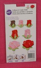 Roses/Buds Chocolate Lollipop/Bon Bon Mold,Wilton,2115-1708,Clear Plastic