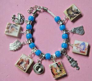 Alice in Wonderland Charm Bracelet-Handmade