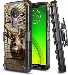 For Motorola Moto g7 Power/Supra/g7 Optimo Maxx Case Holster Belt Clip Cover