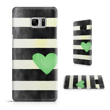 STRIPES GREEN HEART PATTERN PHONE CASE COVER FOR SAMSUNG GALAXY S SERIES
