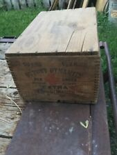 New listing DuPont Extra Dynamite Wood Crate - Red Cross 50 Lbs - Explosives - With lid