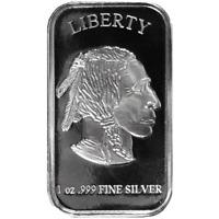 1 Troy oz Buffalo .999 Fine Silver Bar Sealed