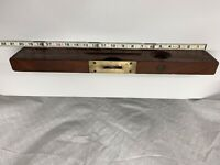 """Vintage WOOD And BRASS LEVEL 20"""" OVB (OUR VERY BEST )H.S.B & CO USA."""