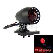 Black Tail Stop Brake Light License Plate For Motorcycle Bobber Custom Chopper
