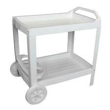 Beistelltisch Rollwagen Servierwagen Grillwagen Beistellwagen Kunststoff Weiß