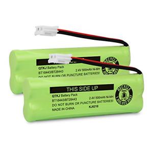QTKJ Cordless Phone Battery for VTech BT18443 BT28443 LS-6115 LS-6117 LS-6125