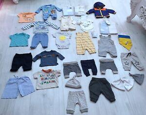BABY BOYS CLOTHES BUNDLE AGE NEWBORN 41 ITEMS joggers romper babygrow romper
