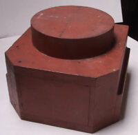 "Lamson Industrial Foundry Wood ~7x9x10"" Column Post Base Mold Pattern M101"